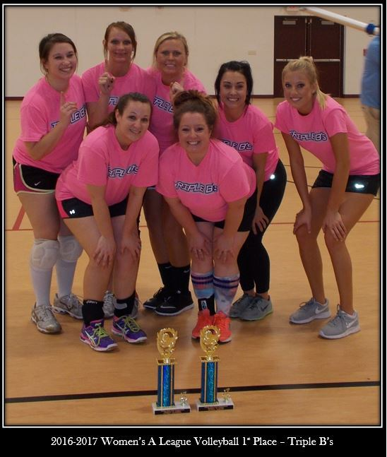2016 2017 Womens A League Volleyball 1st Place Triple Bs